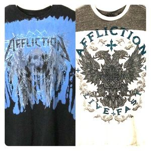 Affliction Shirts - Affliction T-shirts Lot of 2